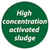High concentration activated sludge