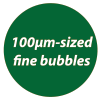 100μm-sized fine bubbles