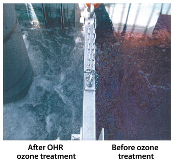 Before and after OHR ozone treatment